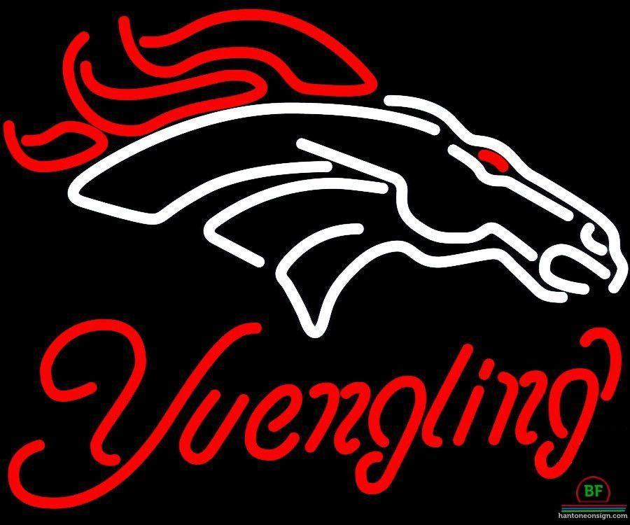 Yuengling Denver Broncos Neon Sign NFL Teams Neon Light