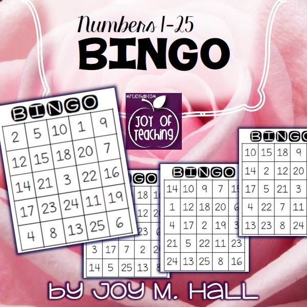 FREE downloadable BINGO game for Numbers 1-25! Great whole class ...