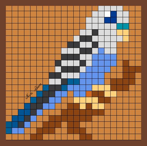 Pixels art pinterest repasser hama et croix - Dessin perruche ...