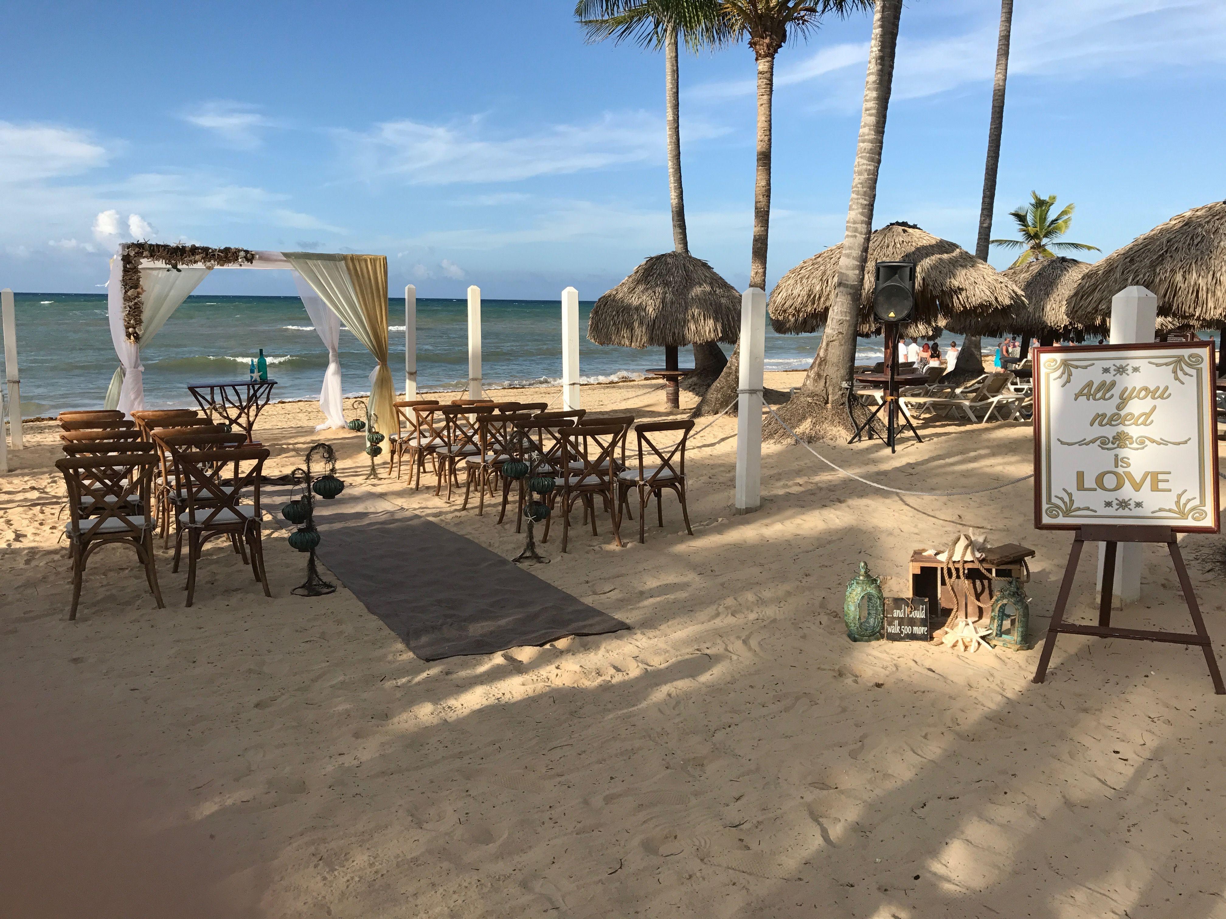 Beach Wedding Ceremony At Dreams Punta Cana Dreams Resorts Wedding Beach Ceremony Destination Wedding Planning