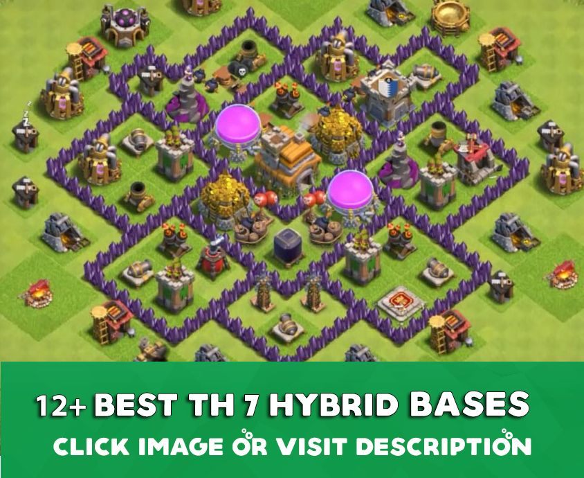 35 Best Town Hall 7 Hybrid Bases 2020 New Clash Of Clans Hack Clash Of Clans Game Clash Of Clans Gems
