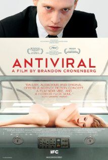 Antiviral (2012) 108 min  -  Horror | Sci-Fi | Thriller  After becoming infected with the virus that killed superstar Hannah Geist, Syd March must unravel the mystery surrounding her death to save his own life.  Director: Brandon Cronenberg Writer: Brandon Cronenberg (screenplay) Stars: Caleb Landry Jones, Lisa Berry, Sarah Gadon - Eww film.