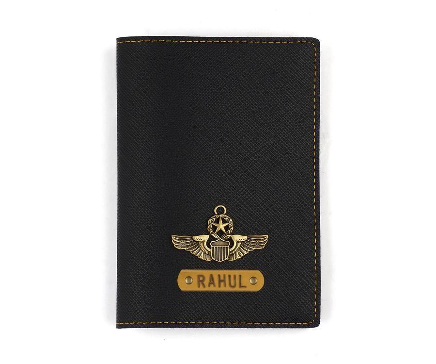 Black textured passport cover passport cover