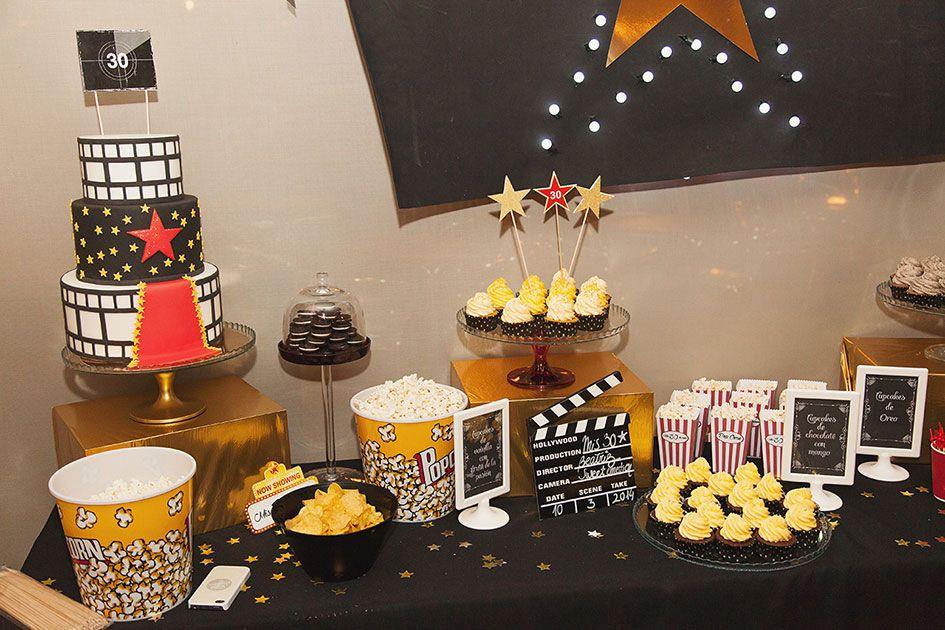 Mis 30 de cine fiesta de cumplea os bodas diferentes - Decoracion 30 cumpleanos ...
