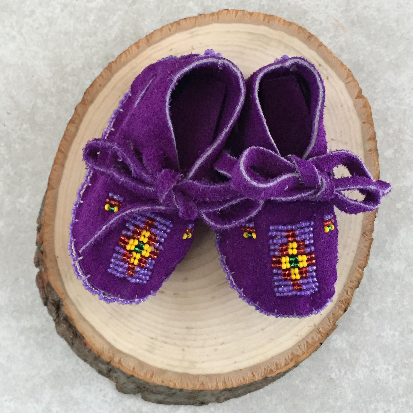 Native American Baby Moccasins Beaded New Born Baby Shoes Soft Sole