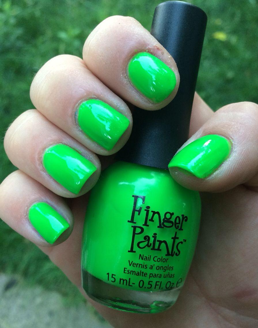 11. Finger Paints: Silkscreen Green | Nail Polish Swatches ...