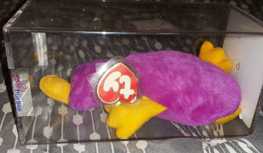 TY 3rd 2nd Gen Patti Platypus Authenticated Beanie Baby Original 9 No  Reserve  Ty 951ac874c5e5