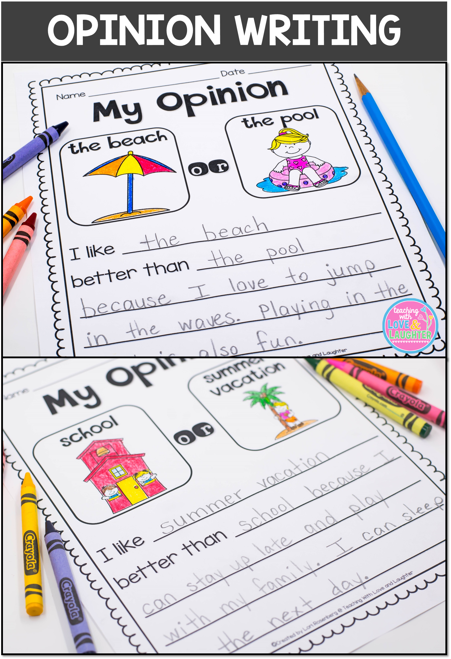 to Writing Right Through April, May, June, and July! This series contains seasonal and theme related writing activities for each month of the year. All of the activities are differentiated and contain the right amount of support for developing writers to be successful. Activities with less support are also included for beg...