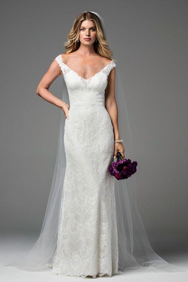 Wtoo off-the-shoulder wedding dress