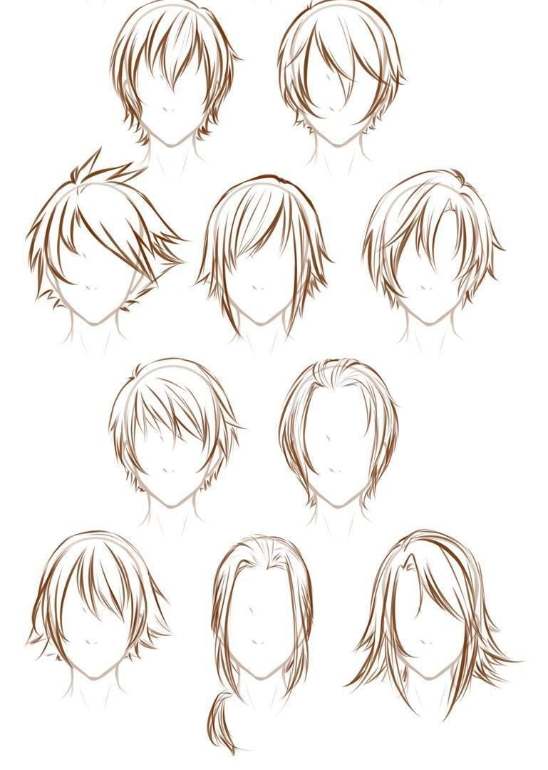 10 Amazing Drawing Hairstyles For Characters Ideas How To Draw Hair Anime Hair Manga Hair