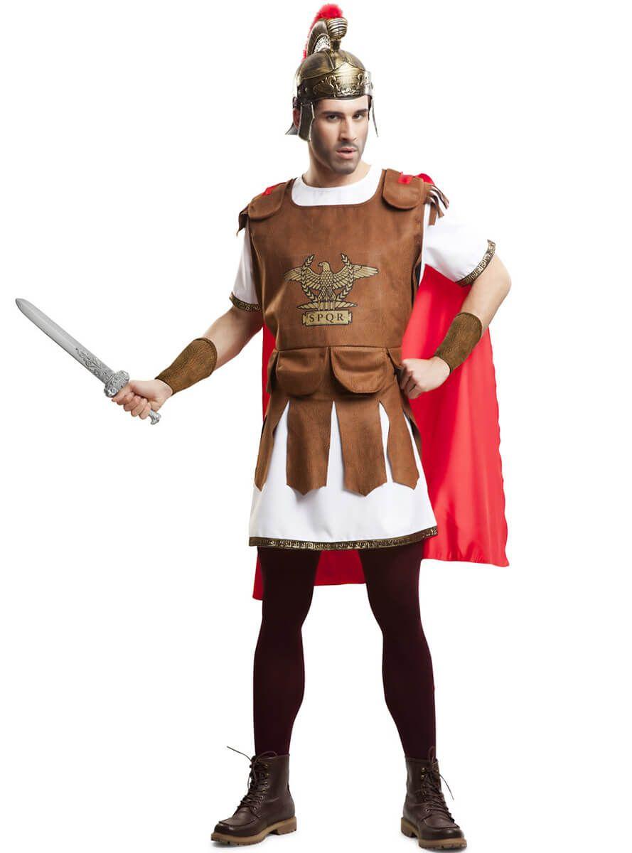 5e605cd07 Disfraz de soldado romano con capa para hombre | Disfraces ...