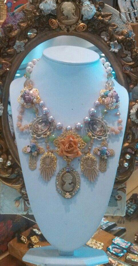 Collar vintage diseñado por Deseos Divinos#Guadalajara mis diseños - diseos vintage