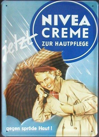 vintage ads for Nivea Cream.