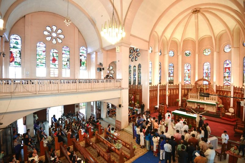 Wedding at the Our Lady of Atonement Cathedral (or Baguio Cathedral). Baguio, Philippines. Photography by Owen and Nikka www.owenandnikka.com