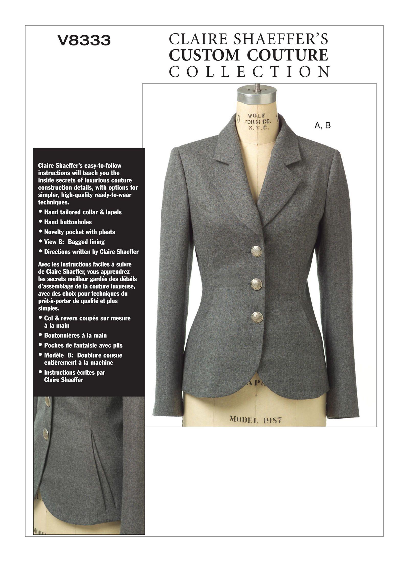 a47f387bed51c Blazer, Veste Sur Mesure, Tutoriels De Couture, Projets De Couture, Idées À