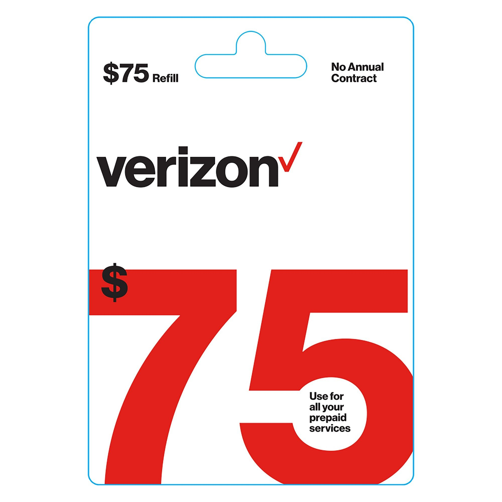 Verizon Wireless 75 Prepaid Refill Card (Email Delivery)