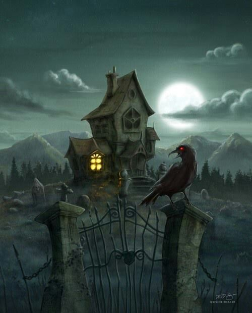 Pin by October Dreaming on Haunted Houses | Halloween illustration,  Halloween pictures, Halloween art