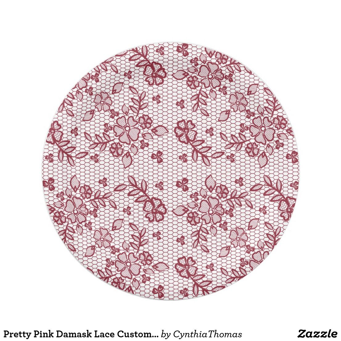 Explore Pink Damask Paper Plates and more!  sc 1 st  Pinterest & Pretty Pink Damask Lace Custom Paper Plates | Cynthia Thomas | Pinterest
