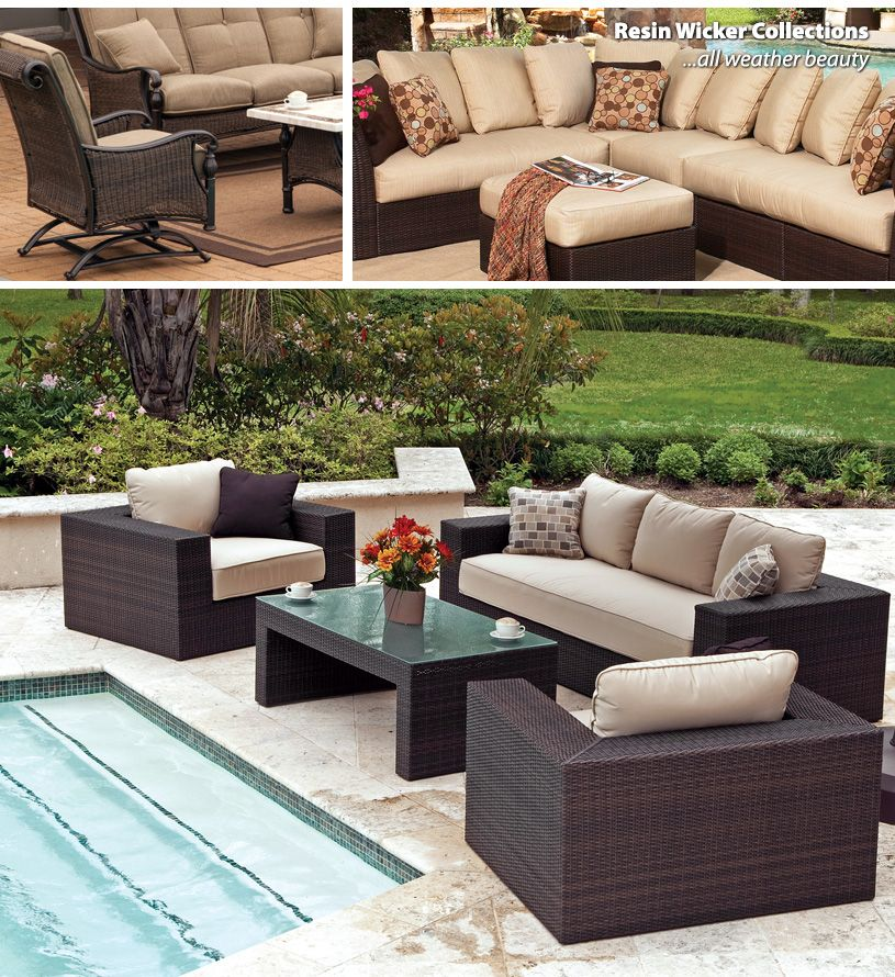 Synthetic Wicker Outdoor Furniture Patio Furniture Pinterest - Outdoor patio furniture wicker