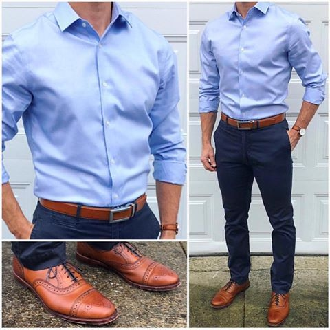 fit is key 🔑👌🏼 this all blue outfit 👕👖👞 is much different