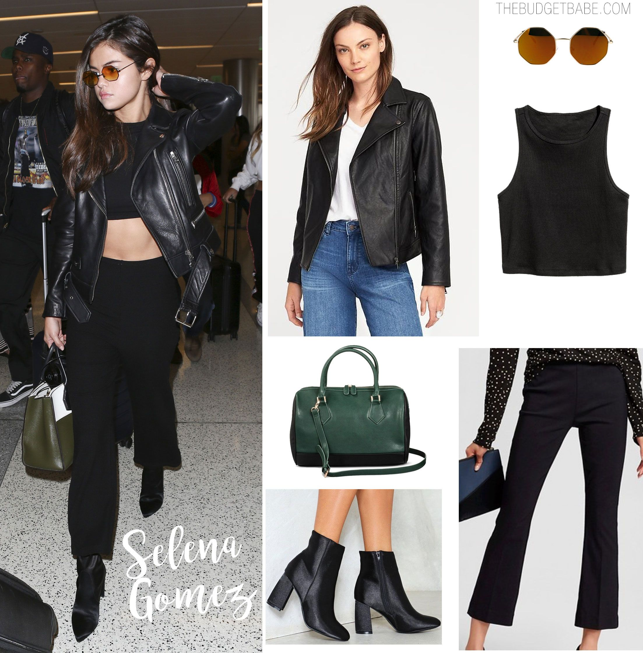 Selena Gomez Black Leather Jacket