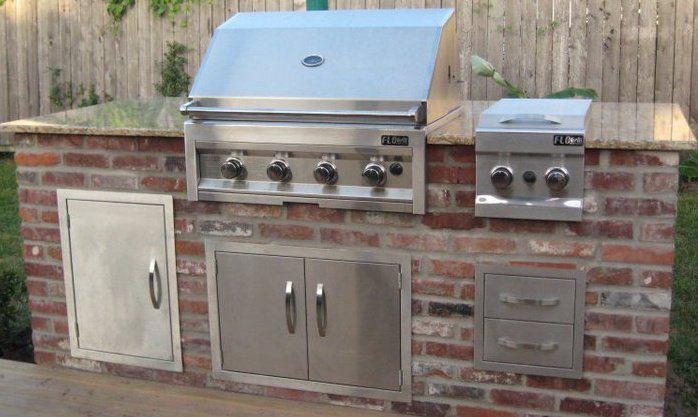 Brick Veneer Outdoor Kitchen Brick Brick Veneer Outdoor Kitchen