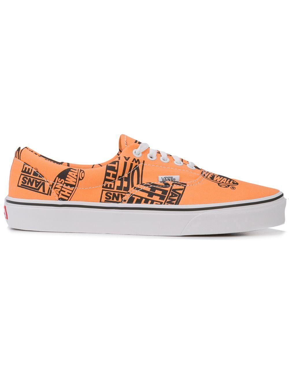 VANS VANS ERA LOGO MIX TANGERINE ORANGE. #vans #shoes