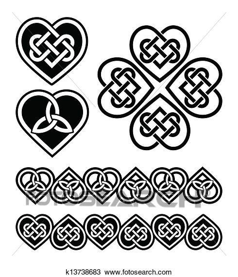 Celtic Heart Knot Vector Symbols Clipart Tattoo Ideas