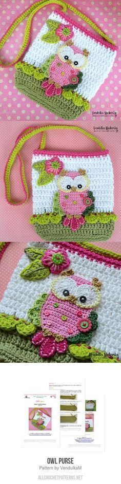 Owl Purse Crochet Pattern Twrczy Pinterest Owl Crochet And