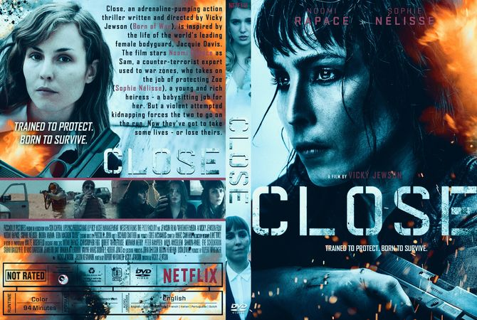 Close (2019) DVD Custom Cover Thriller, Cover, Cover design