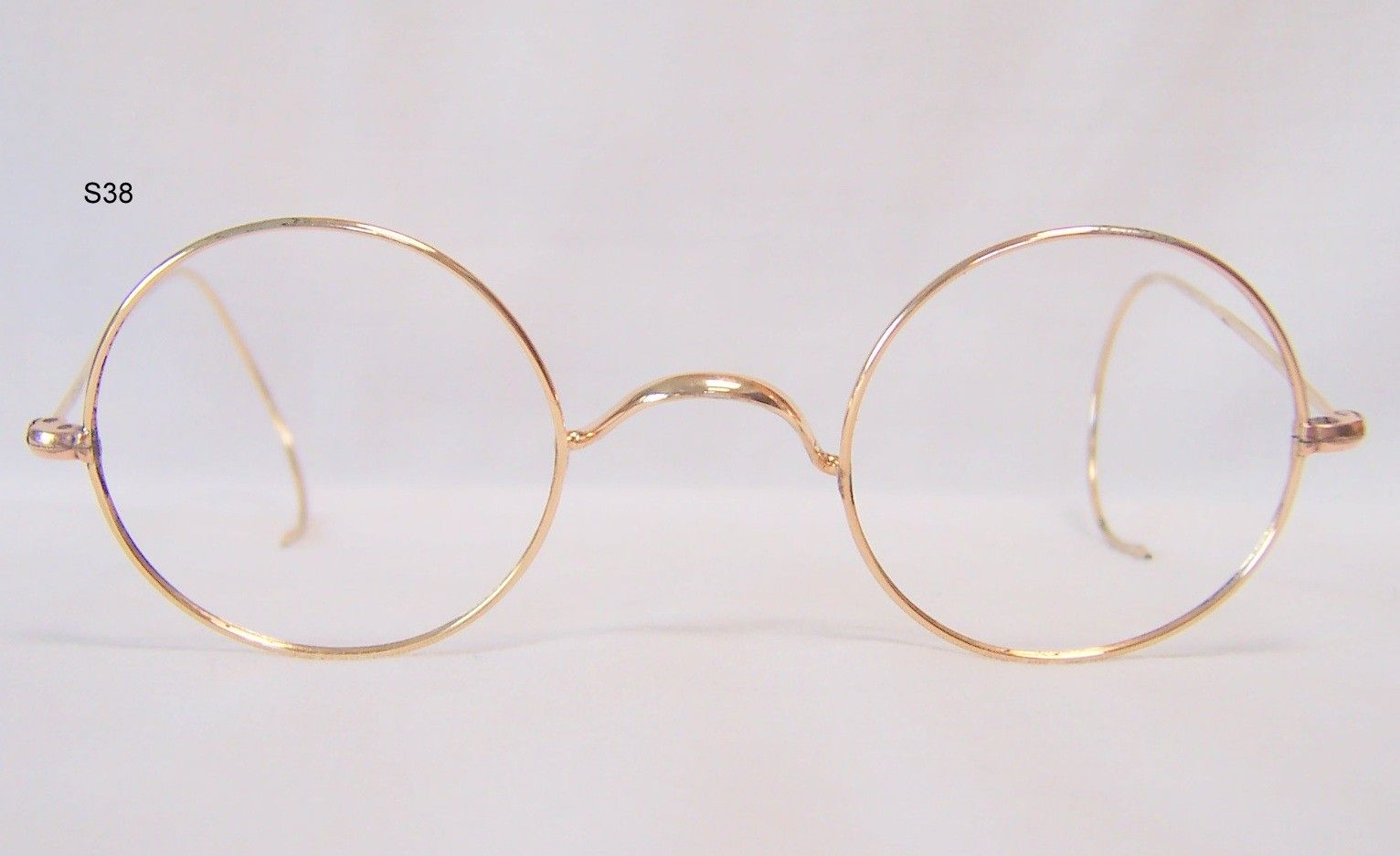 e4290a7b7 Gold filled 20th century round eye Windsor spectacles - Vintage Glasses -  Dead Men's Spex