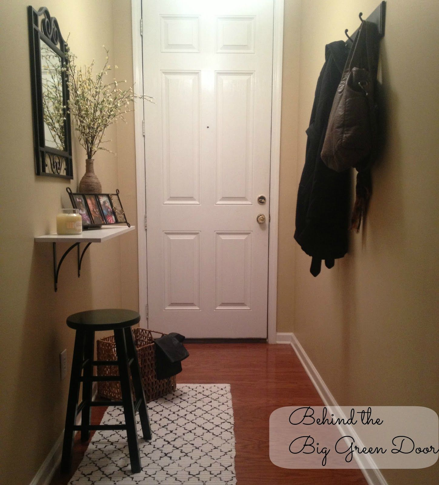 Small And Narrow Entryway Update, Foyer, Home Decor, Welcome To My Entryway  A Mix Of Warmth And Functionality The Entryway Was Inexpensively Put  Together ...