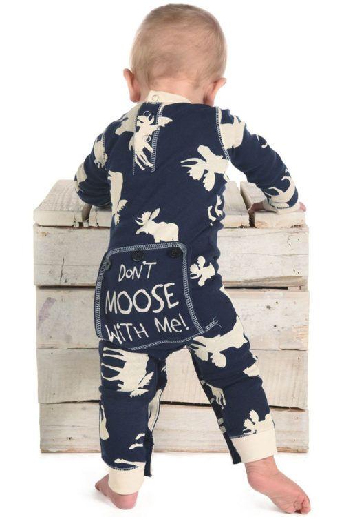 68e2a8877e Blue Classic Moose infant flapjack onesie