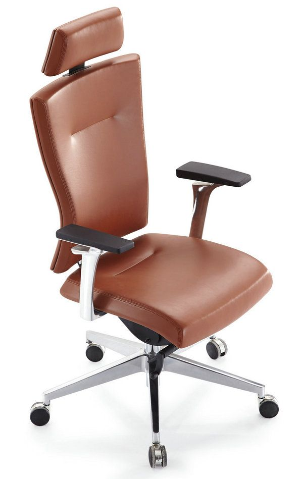 Luxury Computer Office Desk Chair Pu Leather Swivel Ad