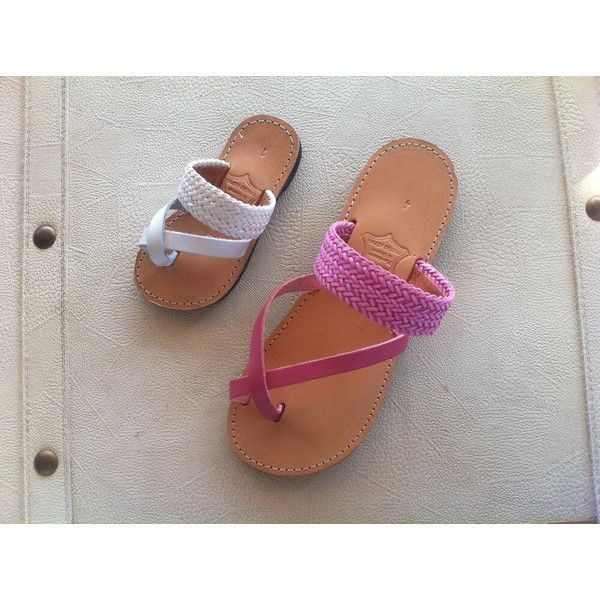 leather sandals girls sandals women's shoes by chicbelledejour (€30) via Polyvore