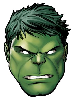 Hulk From Marvel S The Avengers Single Card Party Face Mask In 2019