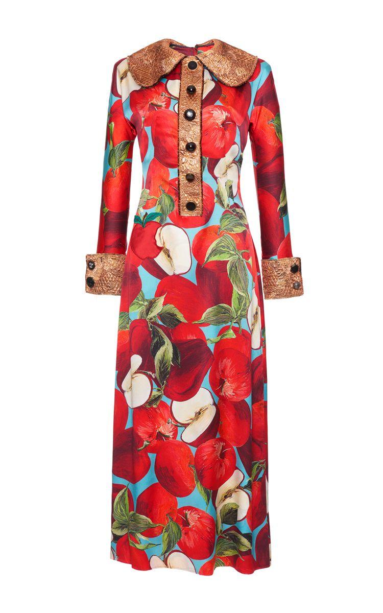 f030ed1f444 Forbidden Fruit Printed Dress by DOLCE   GABBANA for Preorder on Moda  Operandi