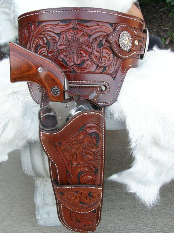 custom tooled leather buscadero gun belt leather