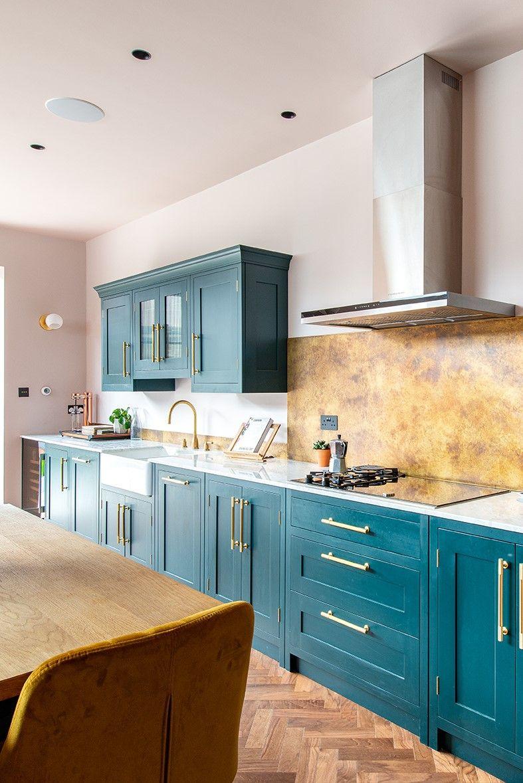 bespoke dark green kitchen extension in london in 2020 interior design kitchen kitchen design on kitchen interior green id=52084
