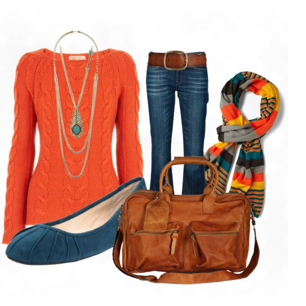 """""""Fall Style- Orange"""" by anne-ratna on Polyvore"""