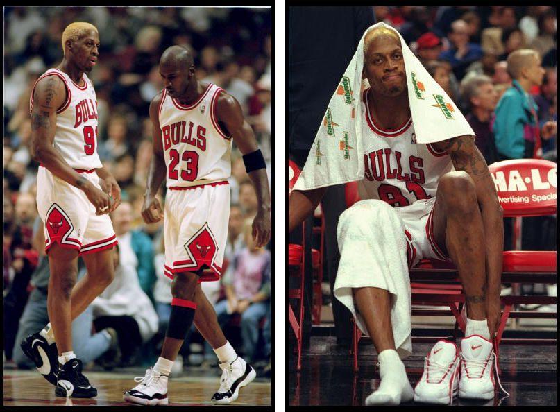 Michael Jordan In The Air Jordan XI Concord / Dennis Rodman In The Nike Air  Way