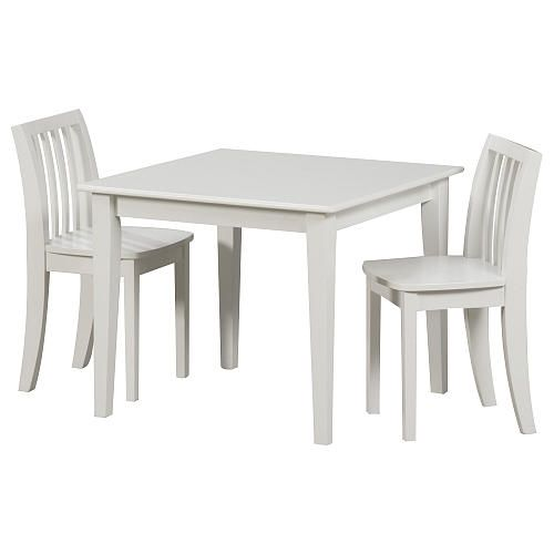 Solutions by Kids R Us Table and Chair Set - White  sc 1 st  Pinterest : childrens white table and chair set - pezcame.com