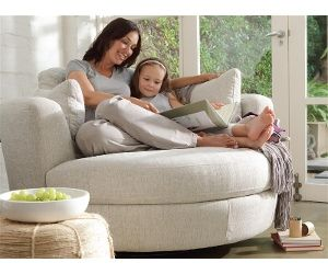 Plush Snuggle Swivel Chair   I Need This In The New Lounge Room!