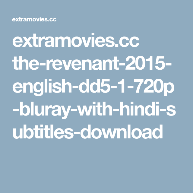 Download The Revenant English 2 Full Movie In Hindi