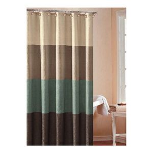 DR International Hampton Hotel Color Block Shower Curtain
