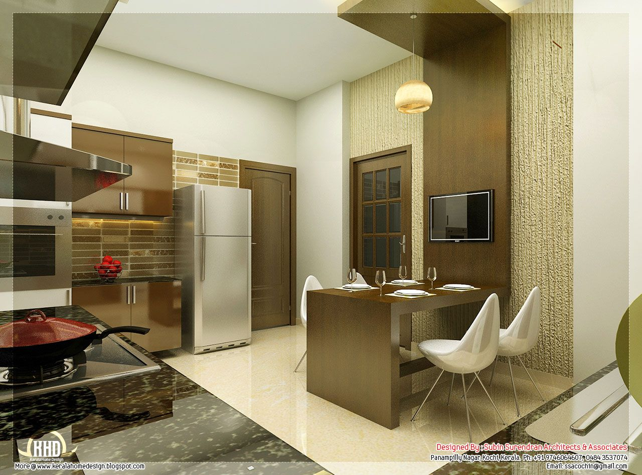 Beautiful interior design ideas kerala home design floor plans kitchen interior designs contact Modern houses interior kitchen