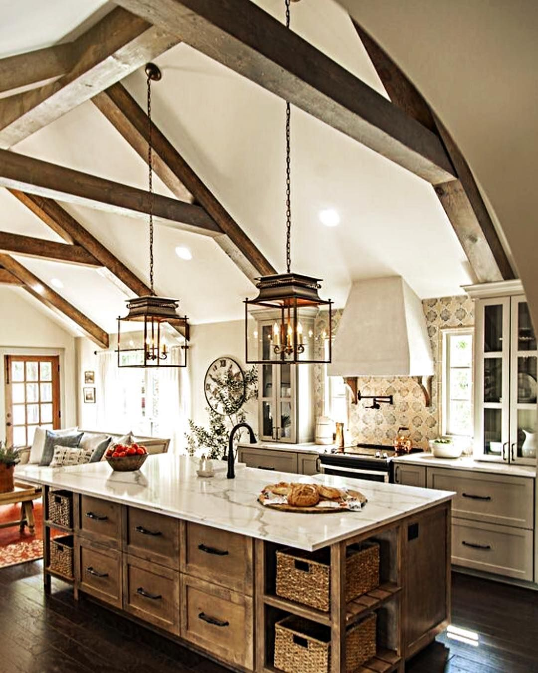 Kitchens Only Beadboard Kitchen Cabinets Lola Moonnlove This Rustic Italian Style With Stunning Raise Ceilings That Adds To The Cozy Charm Of It All Is Via Magnolia