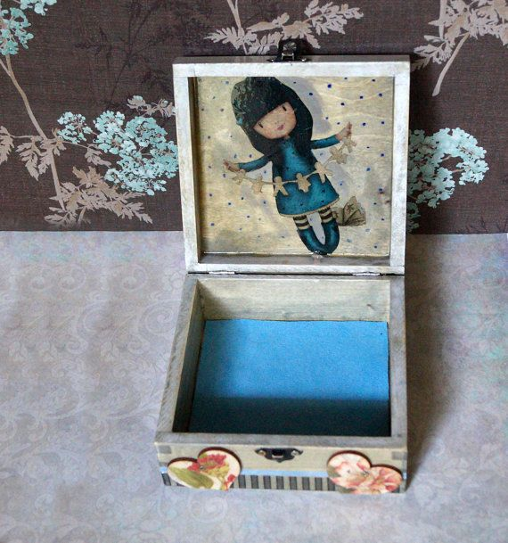 Gorjuss Decoupage Box Jewelry Storage Box little by Malikdesign