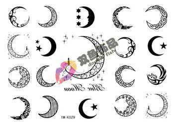 Moon With Two Stars Star Tattoos Moon Tattoo Designs Tattoos