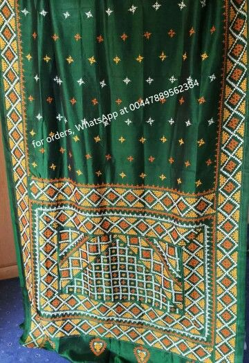 Sindhi embroidery on pure silk saree cultural stuff